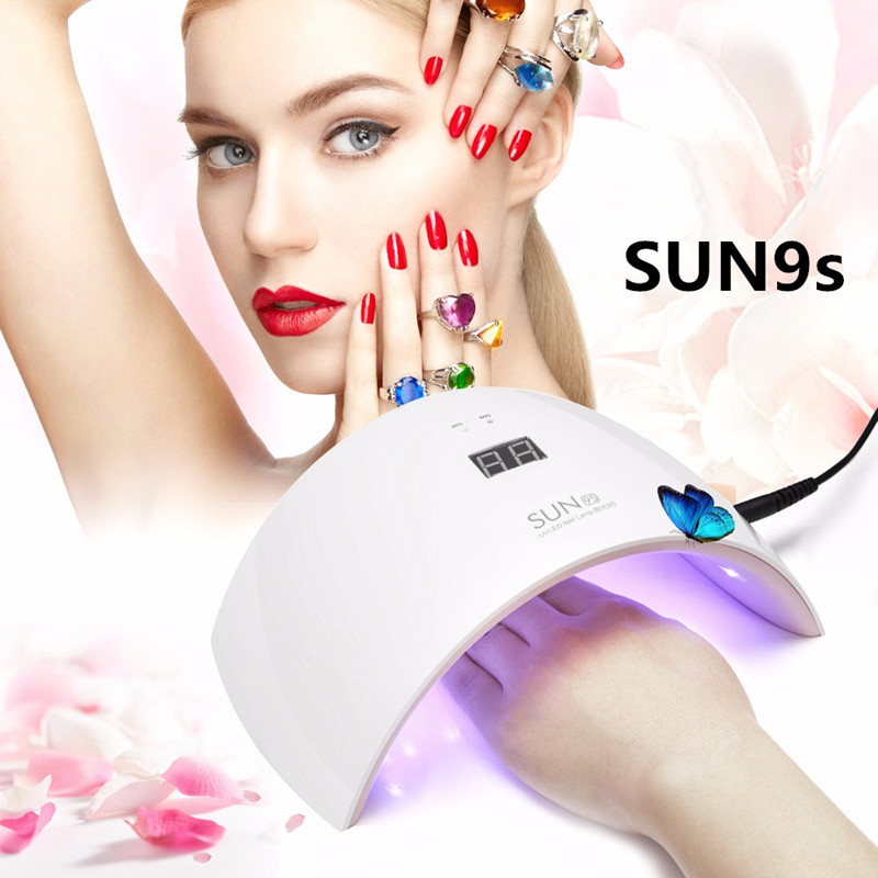 SUN 9S 2017 NEW UVLED SUN9S 24W Professional Lamp Nail Gel Polish Machine for Curing Nail
