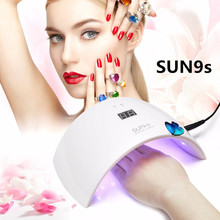 SUN 9S 2017 NEW UVLED SUN9S 24W Professional Lamp Nail Gel Polish Machine for Curing Nail Gel Art Tool