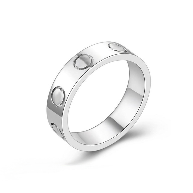 Circle and Line Titanium Steel Anillos Anel Logo Lovers Love Rings for Women Men Cubic Zirconia Wedding Ring Aneis Bague Femme цена 2017