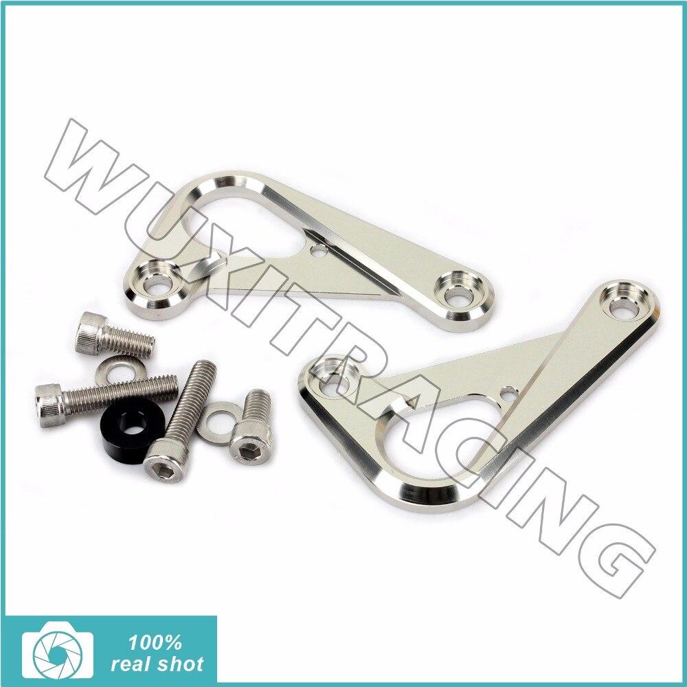 ФОТО New CNC Racing Hooks Billet Aluminium Alloy for Kawasaki ZX-6R NINJA ZX6R 09 10 11 12 Anodized Silver