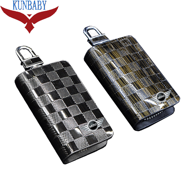 Kunbaby Decoration Genuine Leather Car Keychain Holder Case Bag