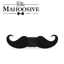Mahooscive Новинка Галстуки ручной работы усы деревянный галстук-бабочка мужские галстуки для шеи с фабрики