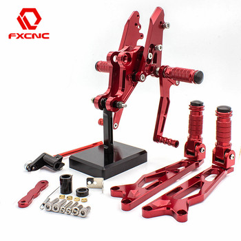 FXCNC Aluminum Motorcycle Front Rear Foot Pegs Rearset Pedal Footpeg Footrest For Honda MSX125 Grom MSX 125 2016 2017 2018