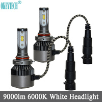 Car LED Headlight 9005 HB3 H10 80W 9000lm 6000K Headlamp Bulb Car Styling Goods Auto LED