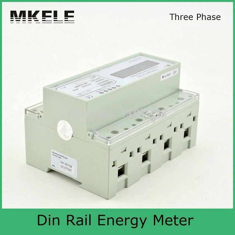 20(120)A 230/400V Din Rail Three Phase Energy Meter Portable Digital LCD RS485 Port With CT MK-LEM021AC tusa rs 460 din
