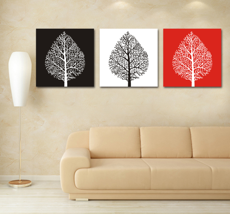 Us 12 92 3 Colour Canvas Art Tree White Decoration Of Orchids Oil Painting Wall Pictures For Living Room Modern Flower Pictures Syp 0275 In Wall