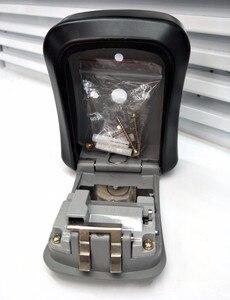 Image 3 - Porta chaves, porta chaves, parede, liga de alumínio, cofre chaves, resistente às intempéries, 4 dígitos, chave combinada, fechadura de armazenamento, caixas interior, ar livre