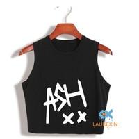 Women Fashion Crop Top Ash XX Ashton Irwin Printed Crop Tops Summer Top Camisetas Harajuku Tumblr