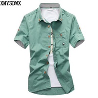 Hot 2014 Men S Boutique Color Matching Casual Cotton Short Sleeve Shirt Men S High Quality