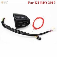 9948858dc0 O envio gratuito de Botão De Controle De Volante Para KIA RIO K2 2017 Botões  de Controle de Cruzeiro Interruptor de Volume Do Te.