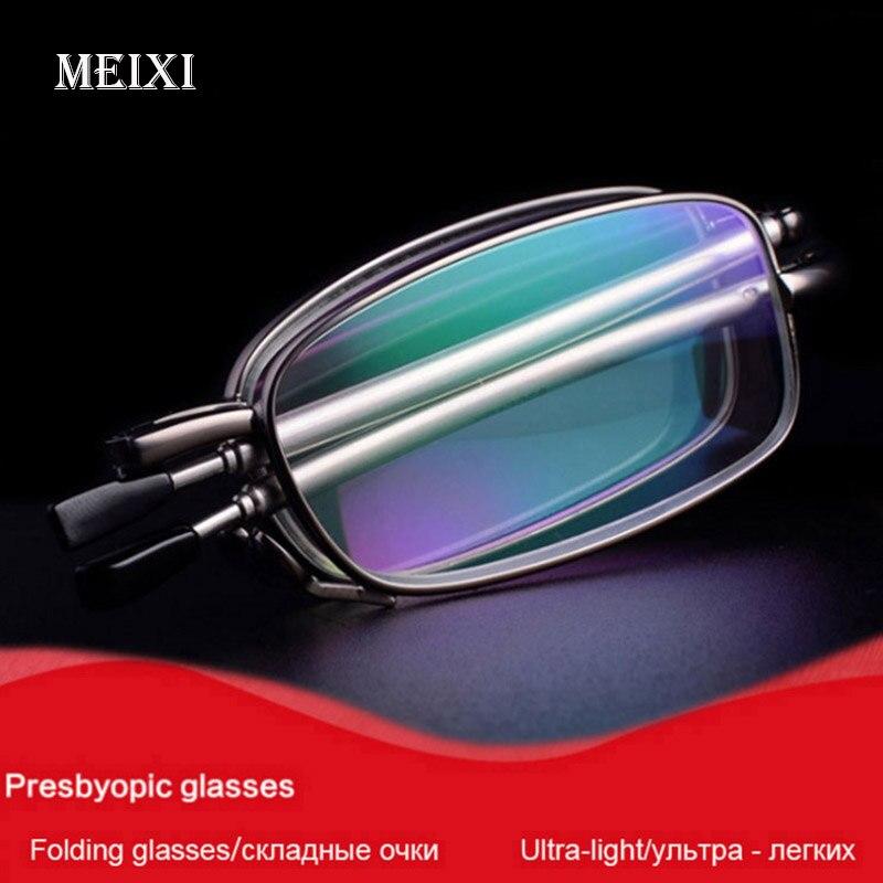 Folding Boxed Lesebrille Hmc Beschichtung Harz Linsen Beschichtung Frauen männer Unisex Mode Brillen + 1,0 1,5 2,0 2,5 3,0 3,5 4,0