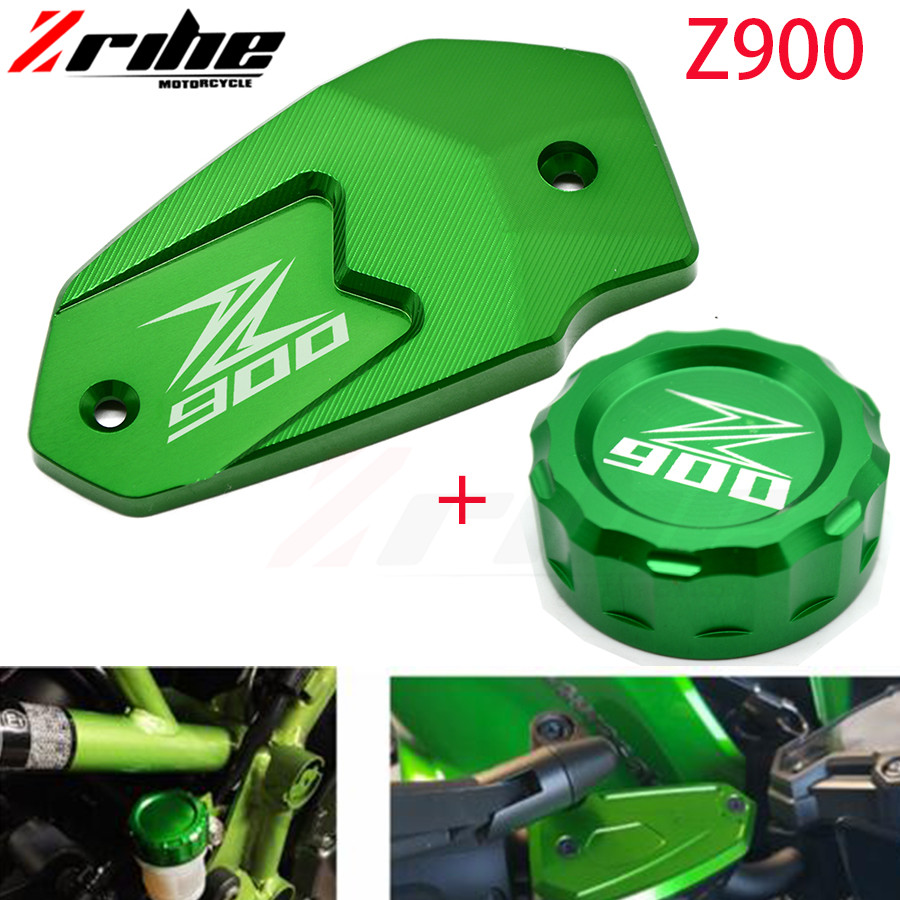 Motorcycle New Aluminum High quality for Kawasaki Z900 Z650 Motor Front Fluid Reservoir Cap Cover and Cylinder Reservoir Cover