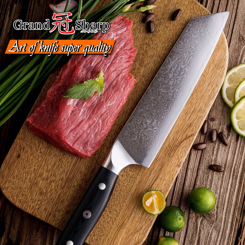 Damascus Kitchen Knives Kiritsuke Gyuto Chef s Knife 67 Layers Japanese Damascus vg10 High Carbon Steel