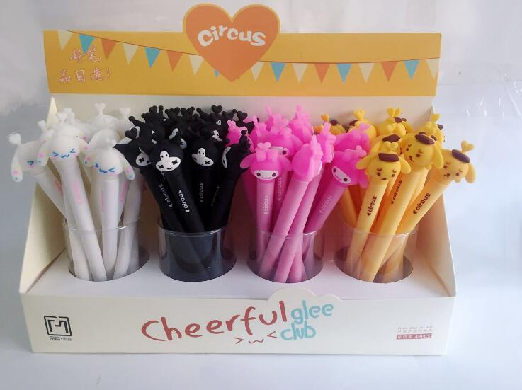 4 pcs/lot The Friend From Circus Troupe Gel Pen Signature Pen Escolar Papelaria School Office Supply Promotional Gift