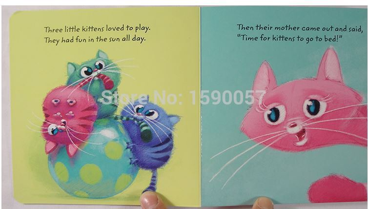 Free shipping Do not want to sleep kitten baby nursery original story books in English cardboard picture books free shipping 2015 new hot saler star wars original english books