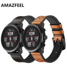 22mm Genuine First layer cowhide leather watch strap For xiaomi huami Amazfi pace for Xiaomi Stratos 2 Smart