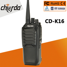 Moins cher prix bidirectionnel Radio Chierda portable de haute qualité woki toki 10 km CD K16 talkie walkie FRS GMRS K16