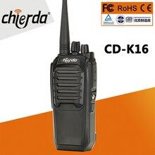 Preço mais barato rádio em dois sentidos chierda handheld de alta qualidade woki toki 10 km CD K16 walkie talkie frs gmrs k16