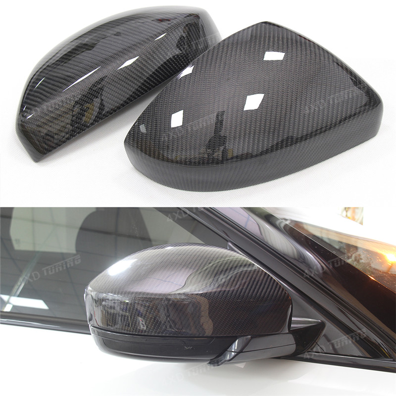 For Land Rover Range Rover Evoque Carbon Fiber Mirror Cover Rear View Side Mirror Replacement&Add On Style Gloss Black 2012 - UP