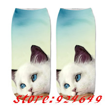 Cat 3D Printing Women Socks