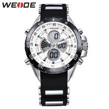 2017 hot Weide hombres originales relojes sport top brand hombres de lujo del silicio reloj relogios dropshipping a prueba de golpes a prueba de agua LED wa