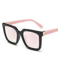 Classic Fashion Feminine Brand Designer Sunglasses Square Frames Gradient Lenses Polarized Polarized Glasses Seven Colors