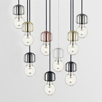 Nordic Franch Designer Concise Pendant Light Creative Living Dining Room Single Edison Bulb Hanging Light Fixtures Free Shipping