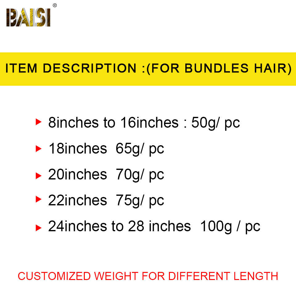 BAISI бразильские волосы плетение 4 пучка с закрытием прямые волнистые человеческие волосы пучки с закрытием девственные человеческие волосы наращивание