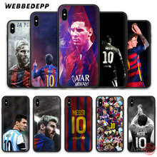 Купить с кэшбэком WEBBEDEPP Neymar Messi Football Soccer Soft Silicone TPU Phone Case for iPhone 5 5S SE 6 6S 7 8 Plus XR X XS Max