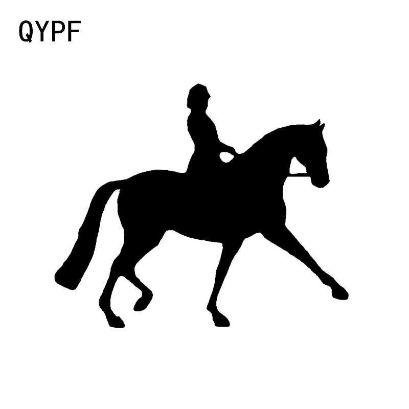 QYPF 14*11.7 CM Moda Binicilik Spor Dekor Araba Styling Sticker Vinil Siluet Yansıtıcı Çıkartmaları Grafik C16-0925