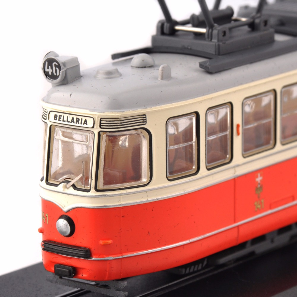 Kid Toys 1/87 Model C1 Nr.141 (Simmering-Graz-Pauker)-1957 Atlas Tram Vehicle Car No. 11 Swiss Tram for Fans Collection Gift