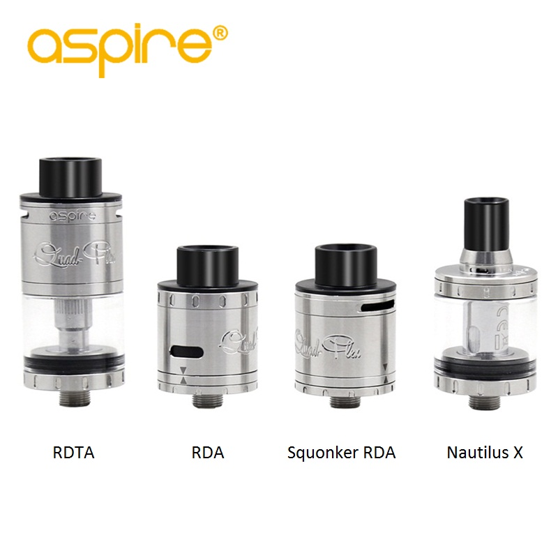 Newest Aspire Quad-Flex Survival Kit 4-in-1 RDTA/RDA/Squonk RDA/Nautilus X Vape Tank Electronic Cigarette RDTA RDA Atomizer