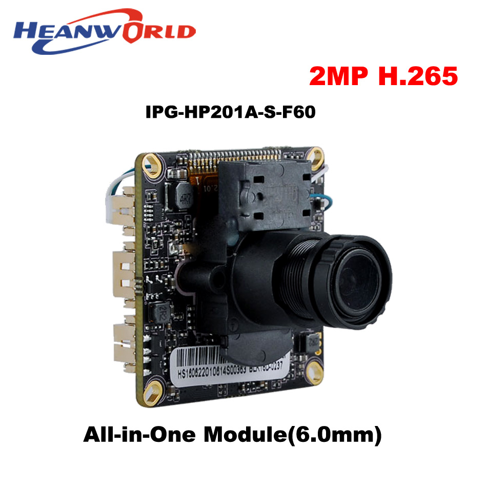 H.265 2.0Megapixel IP Camera Main board module CCTV chipboard Network Camera with 6mm lens IP Board for Security Surveillance