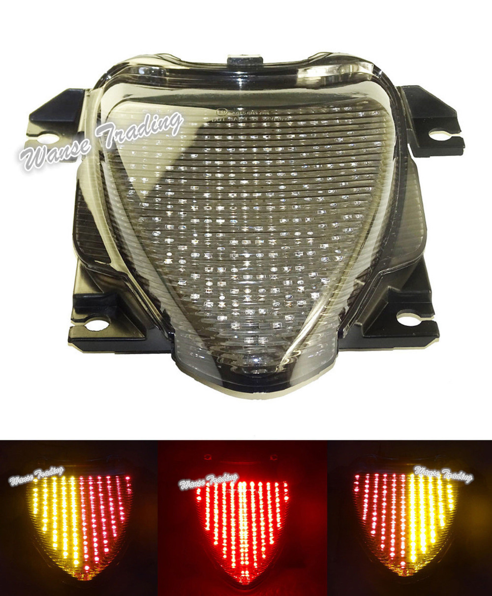 For SUZUKI Boulevard M109R VZR1800 M1800R 2006 2007 2008-2015 E-Mark Rear Tail Light Brake Turn Signals Integrated LED Light aftermarket free shipping motorcycle parts eliminator tidy tail for 2006 2007 2008 fz6 fazer 2007 2008b lack