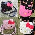 2017 New Hello Kitty Handbags PU Leather Bag Children's Messenger Bag Cute Cartoon School Bag For Kid Girl