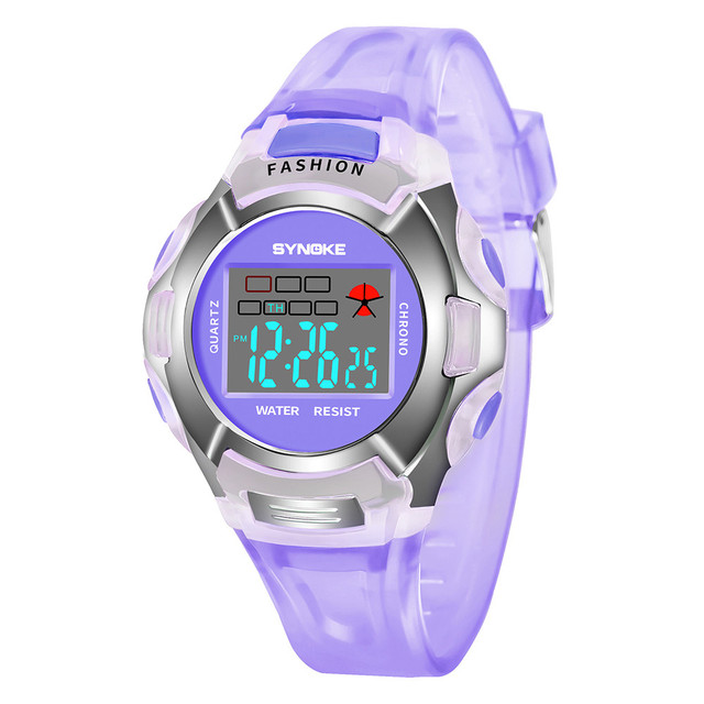 #5001Children Boys Student Waterproof Sports Watch LED Digital Date Wristwatch D