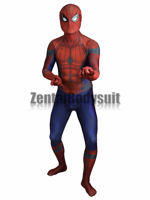 Civil War Costume 3D print Shade spandex Civil War spiderman Costume same as movie style Zentai Halloween Party Costume in Movie TV costumes from Novelty Special Use