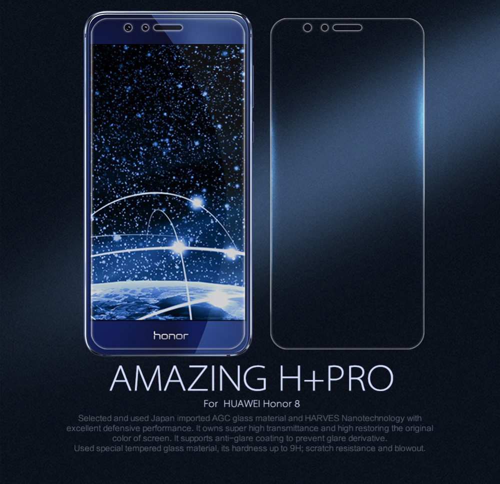 For Huawei honor 8 screen protector Nillkin Amazing H+PRO Tempered Glass For huawei honor 8 discovery 8 touch glass