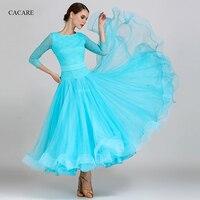 Ballroom Dance Competition Dresses Flamenco Standard Dance Dresses Waltz Tango CHEAPEST D0976 3 Colors with Big Sheer Hem Patchw