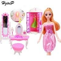 HziriP New Girls Dress Up Pretend Play Toy Sets Fashion High Quality Princess Doll With Light