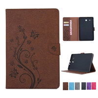 Retro Folding Flip Wallet PU Leather Stand Cover Case For Samsung Galaxy Tab E 9 6