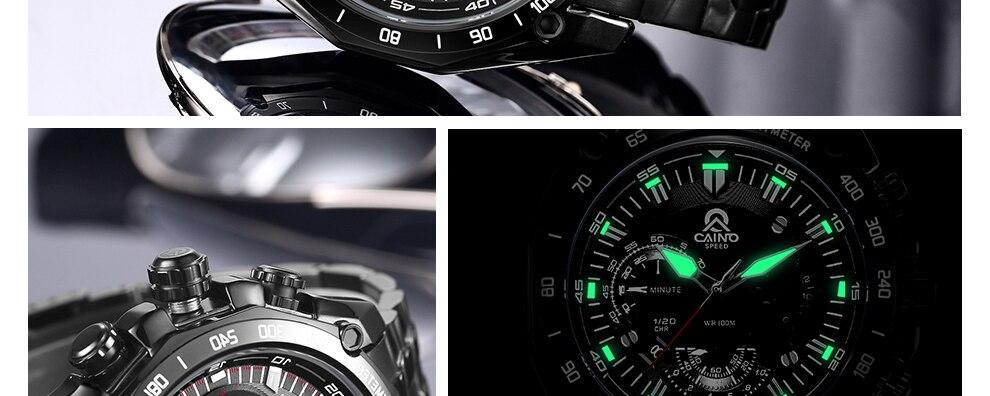 CAINO Homens de Negócios de Moda relógios