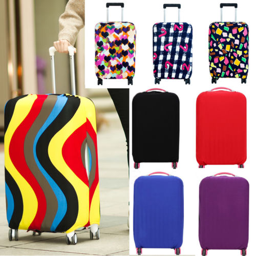 UK Protective Luggage Suitcase Dust Cover Protector Elastic Anti Scratch