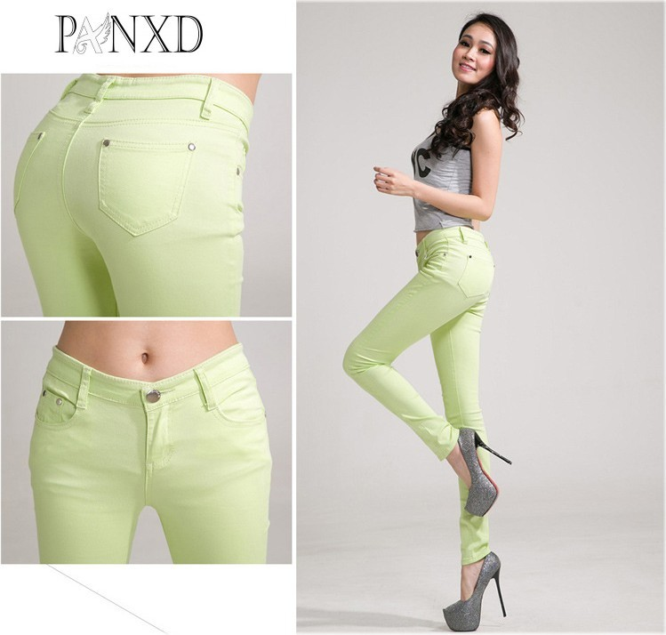 Candy Color jeans womens Pencil Pants Size 25-34 hot woman mid waist sexy skinny feminina pants femme plus size Trousers Fashion new full color candy cotton pants korean women thin elastic jeans pencil pants woman s slim skinny sexy trousers size 25 31