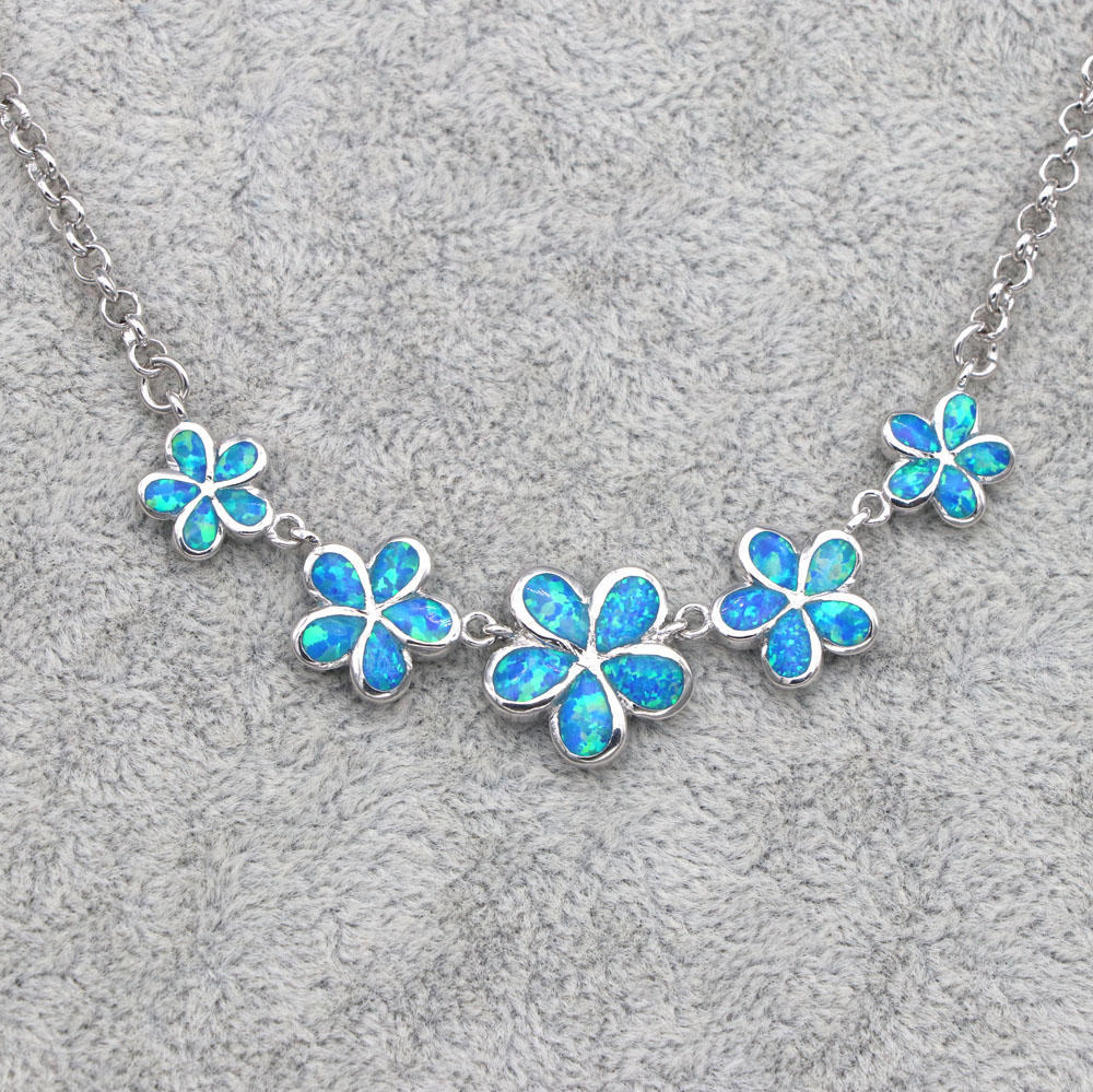 JZN0015 2018 new retro blue opal plum necklace ladies necklace popular jewelry gift