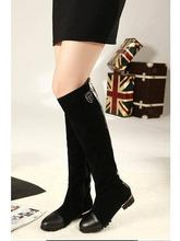 купить 2014 Autumn New fashion ladies sexy Knee high boots high-leg zipper long boots suede brand shoes designer women' boots по цене 3230.61 рублей
