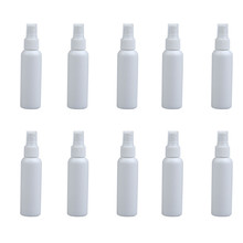 Free Shipping 10Pcs 100ml Empty Perfume Cosmetic Atomizers Sprayer Plastic Spray Bottles White  Refillable Bottles