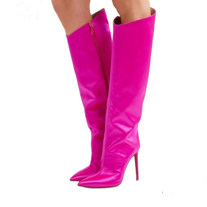 43 Picture Zapatos Taille Or As Femmes Genou À as Blanc Mujer Bout En 35 Bottes Femme Verni Talons Chaussures De Picture Cuir Hauts 2019 Pointu Rouge p1gwq
