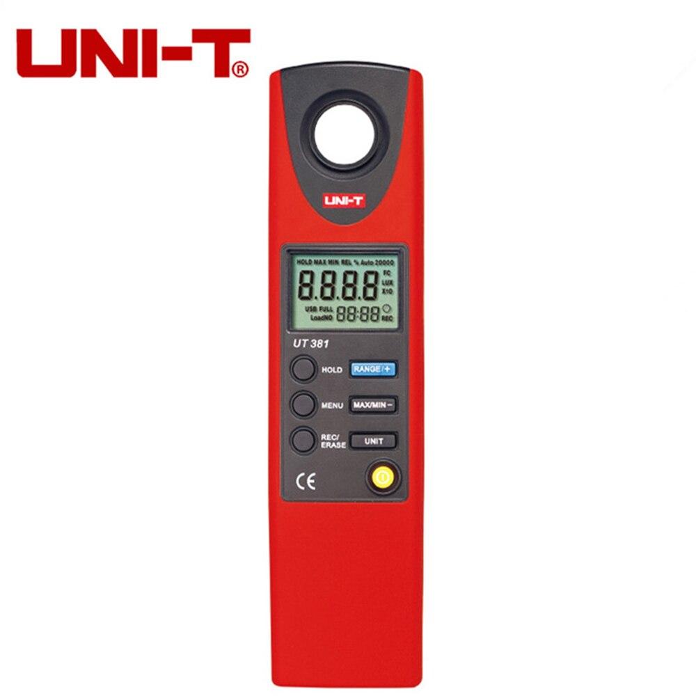 UNI-T UT381 Handheld Digital Luminometer Luxmeter Light Meter 0~20000Lux