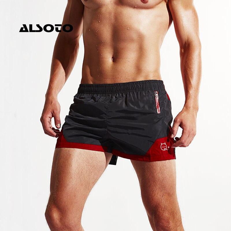 ALSOTO Sexy Board Shorts Men Summer Sport Shorts Sport Running Loose Short Trouser Men's Beach Pants Beach Water Shorts